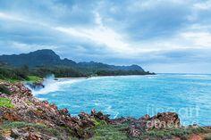 Punahoa Point, Kauai by Daryl L Hunter Hawaii Landscape, Kauai, Ship, Wall Art, Beach, Water, Outdoor, Gripe Water, Outdoors