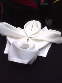 104 best towel origami images on pinterest towel origami napkins towel origami making a balinese flower from a dinner napkin or bath towel mightylinksfo