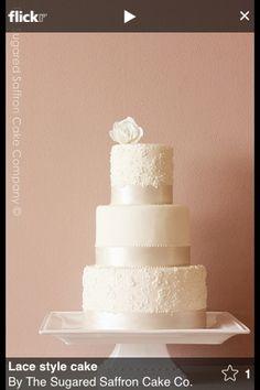Lace style cake