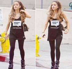 Ariana Grande outfit on point!!