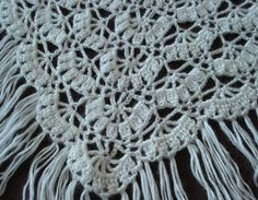 """Ravliki's """"Porcelain Berry Shawl"""" pattern, slightly modified.  The pattern can be purchased through Ravelry.  Great pattern comes with an excellent chart.  I can't work from written patterns since I discovered charts many years ago."""