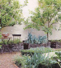 rustic garden beds