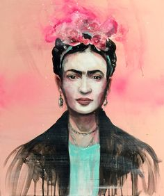 """Frida 50 x 60 cm painting © """"I paint flowers so they will not die""""II"""