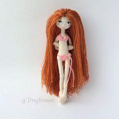 ♡ Amigurumi girl doll wearing a bikini. (Inspiration).