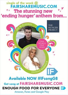 One World One Song - Single of the week at www.fairsharemusic.com | Get this stunning 'ending hunger anthem' into the charts for the G8 and support Enough Food IF http://enoughfoodif.org/the-hunger-project-uk by coming to Big IF events in Hyde Park and Belfast.