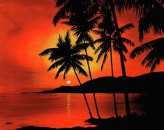 hawaiian sunset paintings   Hawaiian Sunset Painting