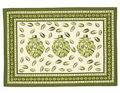 """Indian Cotton Placemats for the Kitchen Table - Offwhite Green Floral - Set of 6 Washable 13"""" x 19"""" Place Mats ShalinIndia http://www.amazon.com/dp/B00TAU1BNQ/ref=cm_sw_r_pi_dp_VHR0vb0NS3BZR"""