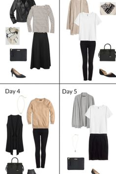7 Days of Outfits (French Minimalist Fall Edition)