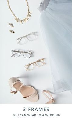 The wedding invites keep coming in, but can your wardrobe keep up? Don't buy a new outfit for every reception when you can just mix up your favorite wedding guest look with a new pair of glasses! With over a thousand frames starting at just $6, you'll find plenty of options at EyeBuyDirect to match your ensemble. Try neutrals like champagne (Bardot Frames - $35), gray (Yuke Frames - $52), or clear (Aura - $70) to perfectly complement any outfit.