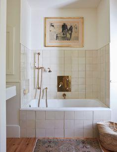 Bathroom Inspiration, Interior Inspiration, Bathroom Ideas, Colefax And Fowler Wallpaper, Long Island House, Painting Shutters, Trellis Wallpaper, Upstairs Bathrooms, Downstairs Bathroom