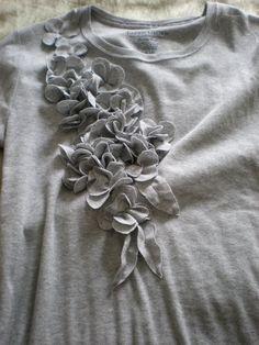 DIY customiser un tee-shirt avec des fleurs
