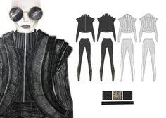 Fashion Sketchbook - fashion illustration & flat drawings; fashion design portfolio // Hannah Eason