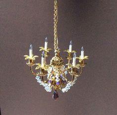 1:12 scale mini chandelier by Nina Eary