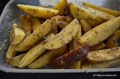 Cartofi la cuptor cu usturoi si parmezan reteta de garlic parmesan wedges   Savori Urbane Parmezan, Sweet Potato, Potatoes, Wedges, Vegetables, Food, Diana, Handmade, Hand Made