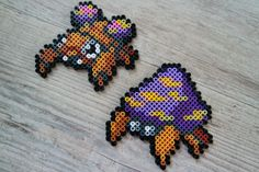 046 Paras  047 Parasect - Perler Beads by Vicsene