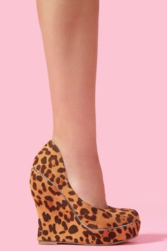Riley Platform Wedge - every once in a while the right leopard shoe comes along...