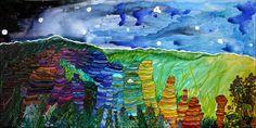 01/2018. 91X45cm. aquarelle et posca sur toile. Posca, Creations, Painting, Art, Watercolor Painting, Canvas, Paint, Painting Art, Paintings