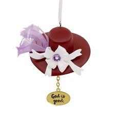 fb758e5ef8522 Amazon.com  Hallmark Mahogany Christmas Ornament God is Good Church Hat   Home   Kitchen