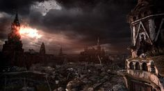 The ruins of post-apocalyptic Moscow will play a big role in Metro: Last Light. New screenshots from Games exit the Metro tunnels and explore the wasteland above. Metro Last Light, First Person Shooter, Post Apocalyptic, After Dark, Light Art, Popular Culture, Art Google, Apocalypse, Paris Skyline