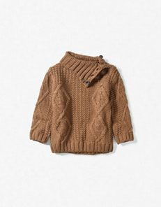This is a boy sweater but Scout would totally rock this with leggings and her little uggs.