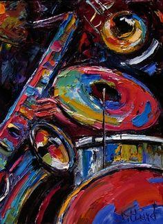 Abstract Jazz Art Music Painting by Debra Hurd, painting by artist Debra Hurd
