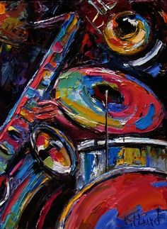 Abstract Jazz Art Music Painting by Debra Hurd, painting by artist Debra Hurd