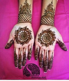 Centered henna and wrist design