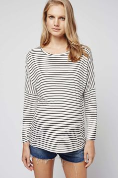 MATERNITY Slouch Stripe Top