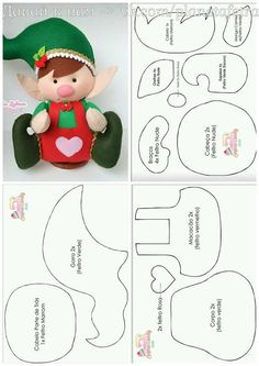 Powered by APG vNext Trial - duende navidad ,de la webPattern for cloth elf doll (in Hungarian, but you can easily figure it out).Things to make :) elf Ragdoll pattern free /Christmas decorated with felt padslike his tool apron Christmas Sewing, Christmas Crafts For Kids, Christmas Projects, Felt Crafts, Holiday Crafts, Felt Christmas Decorations, Felt Christmas Ornaments, Christmas Elf, Christmas Stockings