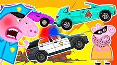 Peppa Pig Ambulance Car / Monster Trucks Crashes / Vehicles for Children / Episode 170 - YouTube
