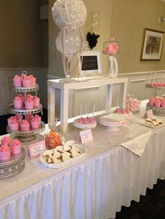 bridal shower pink theme sweet candy bar