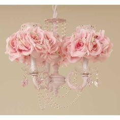 Pink rose chandelier.