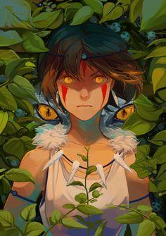 One of my recent Ghibli fan art I did as a print for a con, San is so cool <><> (Also please don't reupload/use my art elsewhere without per. Mononoke Anime, Mononoke Cosplay, Studio Ghibli Films, Art Studio Ghibli, Totoro, Film Anime, Manga Anime, Anime Art, Fanart
