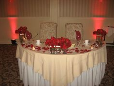 Bride and groom table.