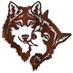 Shop for rustic metal wall art sculptures, a selection of over 20 stunning, high-quality pieces reflecting landscapes, wildlife, and outdoor living. Wood Burning Patterns, Wood Burning Art, Metal Wall Art, Wood Art, Stencils, Gravure Laser, Wolf Silhouette, Laser Art, Scroll Saw Patterns