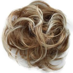 Scrunchy Scrunchie Bun Up Do Hairpiece Hair Ribbon Ponytail Extensions Wavy Curly or Messy (blonde mix 27T613) *** This is an Amazon Affiliate link. Check out the image by visiting the link.