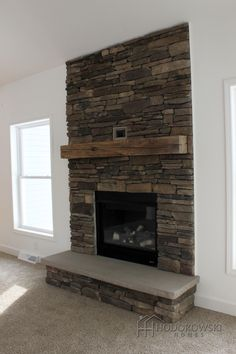 """We just can't get enough of this custom cultured stone fireplace- @boralamerica stone: Southern Ledgestone in the shade """"Chardonnay"""""""