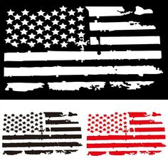 Family Car DECALS-Clear Sticker-AMERICAN FLAG