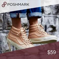 Vans Hi-Top Reissue Zip Sneakers The Veggie Tan Leather Sk8-Hi Reissue Zip  DX combines the iconic Vans reissued high top with deluxe leather uppers  that ... d13479da0