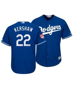 970e75bf7 Majestic Men Clayton Kershaw Los Angeles Dodgers Spring Training Patch  Replica Cool Base Jersey