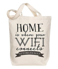 Another great find on #zulily! Canvas 'Wifi' Tote Bag #zulilyfinds