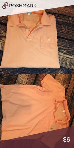 Calvin Klein Polo Men's polo in an orange color. Great condition except for one small white spot. Priced accordingly. No trades. Calvin Klein Shirts Polos
