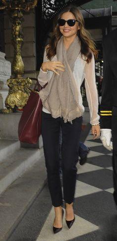Miranda Kerr Classic NYC Street Style