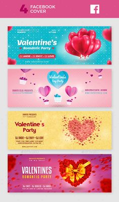 Valentine Facebook Cover Templates PSD #vday #design