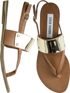 Steve Madden Cuff Sling: owned! but in black. love these sandals. -cks