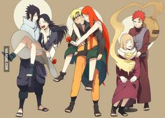 Sasuke, Naruto, & Gaara with their mothers ^_^ this is so sweet. I want to cry just thinking of what these guys would do if they had their Mom's with them again. We got to see with Naruto a little and sasuke Anime Naruto, Naruto Shippuden, Manga Anime, Boruto, Naruto Y Hinata, Sarada Uchiha, Fanarts Anime, Naruhina, Kakashi