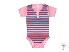 Baba body, pink-kék csíkos - Baby and Kid Fashion Bababolt. 50th, Kids Fashion, Bodysuit, Pink, Tops, Women, Onesie, Junior Fashion, Pink Hair