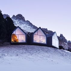 "24.3k Likes, 120 Comments - Dezeen (@dezeen) on Instagram: ""A trio of glass-fronted gables project from this mountain restaurant that architects Peter Pichler…"""