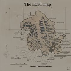 The Island map from the show LOST