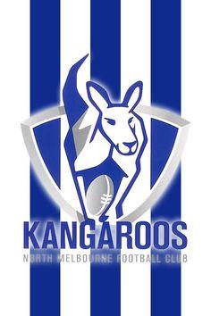 Official AFL Website of the North Melbourne Football Club Western Bulldogs, Bulldogs Football, Kangaroo Logo, Australian Football League, Football Team Logos, Sports Logos, Workshop Design, Australian Animals, Club